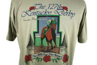 🔴 VTG 127th Kentucky Derby May 5th 2001 T-shirt Monarchos Run for the Roses XL