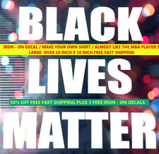 """New listing """"2 Large"""" Black Lives Matter Iron On Decals Free Fast Shipping"""