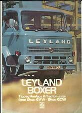 Leyland boxer 10 tonne GVW-19 ton poids total roulant truck camion sales brochure 1973 1974
