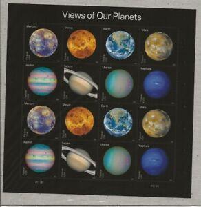 2016 Forever Planets full Sheet of 16, Scott #5069-5076, Mint NH