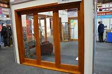 CEDAR TIMBER BIFOLD DOOR 3 PANEL, PRE-HUNG & STAINED, 1 RIGHT , 2 LEFT, IN STOCK