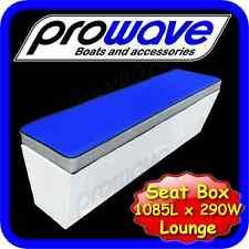 Aluminium Boat Seat box or lounge 1085L x 290W x 365H - Mid Blue