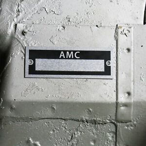 AMC Identification Plate Dataplate Serial Number ID Tag Pacer Typhoon Matador V8