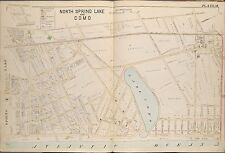 1889 NORTH SPRING LAKE & LAKE COMO, MONMOUTH COUNTY, NEW JERSEY PLAT ATLAS MAP