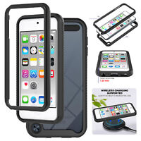 For iPod Touch 5 6 7th Gen Hybrid TPU Bumper Clear Back Protective Case Cover