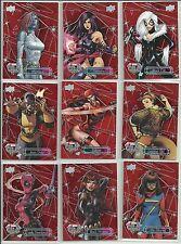 2016 Upper Deck Marvel Gems Ruby 54 Card Lot Near Complete Set Serial #ed / 99