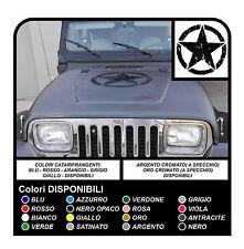 Adesivo STELLA militare consumata cm 50 per cofano Jeep WRANGLER WILLYS RENEGADE