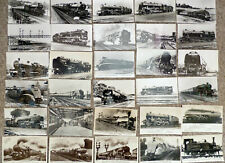 Lot015 - Railway - Steam Trains - Engines - 30 photographic postcards