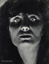 1939 Original Philippe Halsman Dramatic Woman Eye Portrait Vintage Photo Gravure