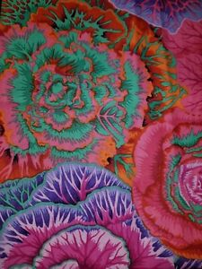 1//2 yarda Kaffe Fassett barbudo Iris-Oscuro Algodón tejidos de acolchar