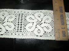 5 yard White Elastic//Stretch Sequin Floral Lace 4cm Trim//sewing//craft//flower T87
