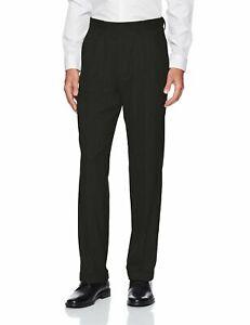 J.M. Haggar Mens Pants Black Size 42X32 Classic Fit Dress Stretch $80 061