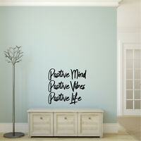 Positive Mind, Positive Vibes, Positive Life - Inspirational Quotes Wall Art Vin