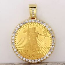 1991 1 oz Gold American Eagle BU (MCMXCI)  & 3.30Ct Diamond Coin Pendant 48g.
