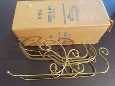 NEW IN BOX Home Interiors HOMCO #5301-DE Brass Plated Christmas Santa Sleigh
