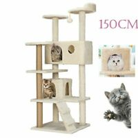 Cat Scratcher Tower Play Centre Large 150cm Kitten Platforms Scratching Post AU
