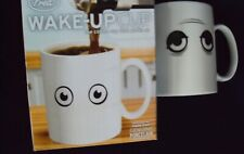 New listing Fred and Friends Wake-Up Cup Heat Sensitive Novelty Porcelain Coffee Mug - New