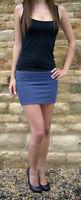 Womens Ladies Stretch Mini Denim Jersey skirt Shp Price £25 Size 6 8 10 12 14 16