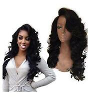 ATOZ Women Long Wavy Syntheitc Lace Front Hair Heat Resistant Hair Wig Black Wig