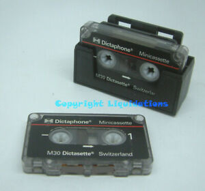 Dictaphone M30 Dictasette Mini Cassettes 30 Minutes Pack of 2-Used, Erased