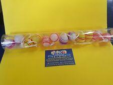 Uova in plastica colorate cm. 4 pezzi 12 decorazioni righe e fiori feste eventi
