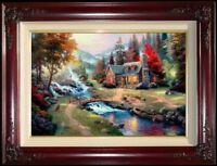 Thomas Kinkade Mountain Paradise 24x36 G/P Canvas limited edition