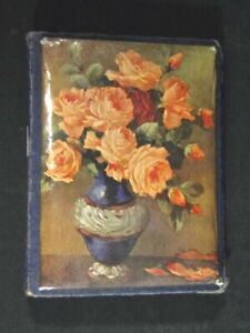 Victorian English Celluloid Floral Cover ABEL MORRAU'S Needle Case