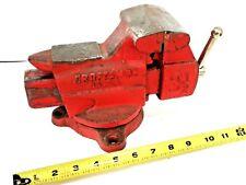 Vintage Craftsman 381 5180 Swivel Bench Mount 3 12 Vise Pipe Jaws Forming Anvil