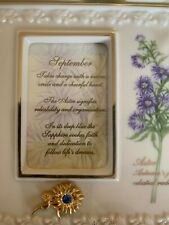 Lenox China Treasures Birthstone Frame - September Aster Sapphire Nib