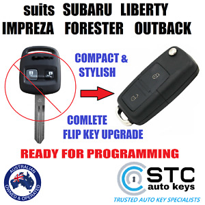 SUITS SUBARU IMPREZA WRX FORESTER OUTBACK LIBERTY REMOTE FLIP KEY 2000 - 2007