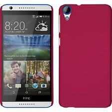 Hardcase HTC Desire 820 rubberized hot pink Cover + protective foils
