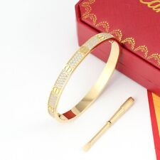 18K Gold Plated Love Bangle Bracelet With Screwdrivers Size 16-19
