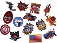 GRAB BAG OF 6 PIECES ASSORTED EMBROIDERED 3 TO 4 INCH PATCHES novelty patch new