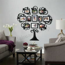 12X Family Tree Photo Picture Frame Collage Set Black Wall Art Home Room Decor