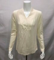 Isaac Mizrahi Live! Women's Essential Wrap Collar Knit Top Cream XX-Small Sz QVC