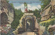 1949 postcard - Entrance to Fairyland Caverns, Rock City Gardens, Lookout Mt, Tn