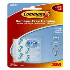 12Pk Sm Clr Adhes Strip,No 17024Clr, 3m Company, 3Pk