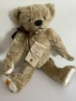 Merrythought The Wiltshire Bear Mohair Limited Edition #118/500 with Tags