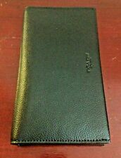 COACH NEW YORK BIFOLD BLACK LEATHER CHEST WALLET. GREAT CONDITION