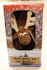 Reindeer on the Roof Plush Christmas Animal with Book & Code for Website NEW