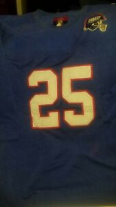 New York Giants #25 Stitched Football Jersey Reebok NFL Gridiron Classic Mens 2X
