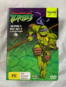 Teenage Mutant Ninja Turtles Season 2 Box Set 2 3 DVD Region 4 14 Episodes