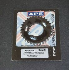 APE ACS1000K SLOTTED ADJUSTABLE CAM SPROCKETS WHEELS GEARS KZ1000 MKII DRAGBIKE
