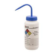 Sodium Hypochloride Wash Bottle (Bleach), 500ml - LDPE - Eisco Labs