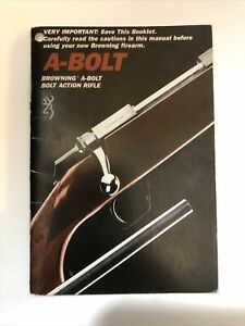 Browning A-Bolt Bolt Action Hunting Rifle Instruction Manual Paper Booklet Book