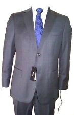 42L Suit Charcoal grey Hugo Boss Sup100's Made in USA 100% virgin wool Org:$1095