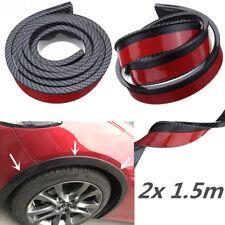 2x 1.5m Gummi Auto Radlauf Schutzleisten Kotflügel Zierleisten Carbon Fiber Stil