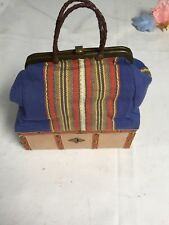 Tapestry And Leather French Doll Traveling Case Reproduction