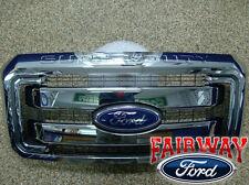 11 thru 16 Super Duty F250 F350 F450 F550 OEM Genuine Ford Chrome Grille Grill