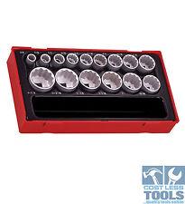 """Teng Tools 15 piece AF 1/2"""" Dve Socket Set TT1215AF"""